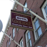 Hotel Coolidge exterior sign